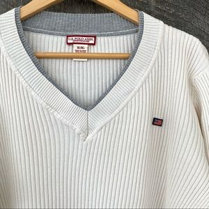 US Polo Assn. v-neck sweater in a cotton blend